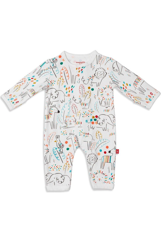 Magnetic Me™ by Magnificent Baby 100% Organic Cotton Coverall (Pop Jungle)
