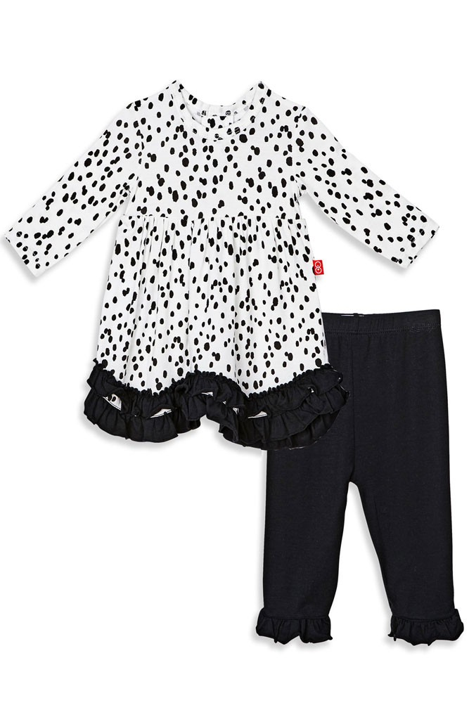 Magnetic Me™ by Magnificent Baby Modal Dress with Pants (Seeing Spots)