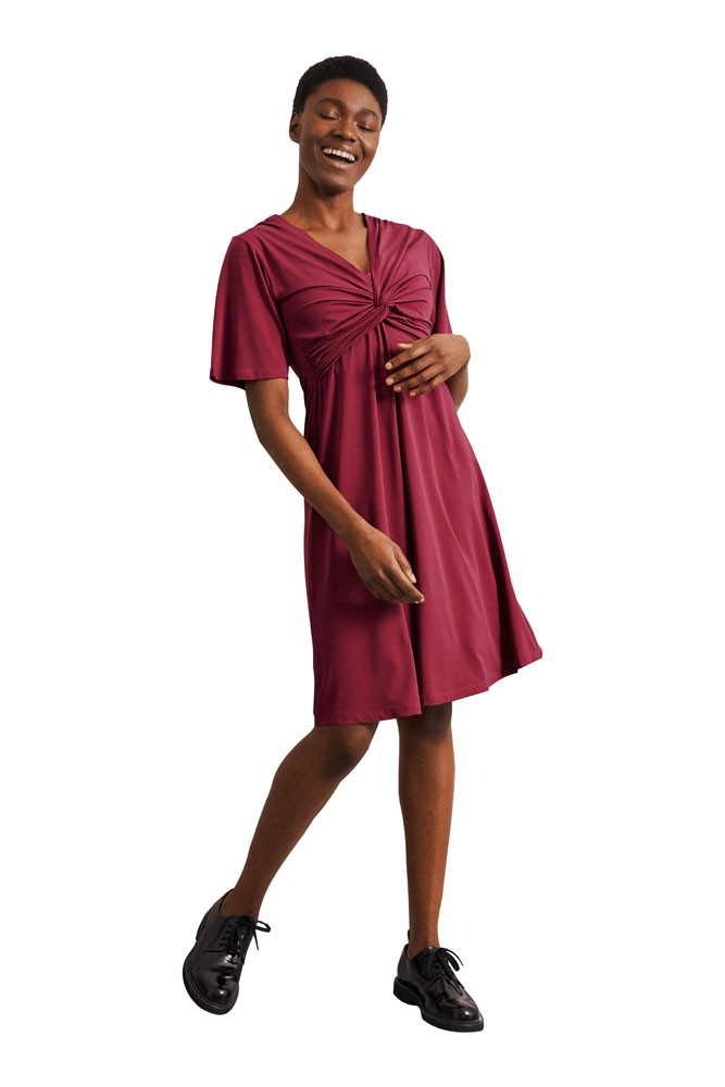 Boob Design Lala Maternity & Nursing Dress (Beet Red)
