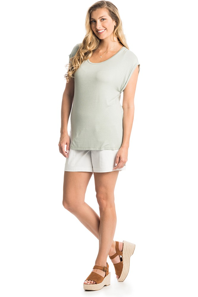 Elena Maternity & Nursing Top by Everly Grey (Sage)