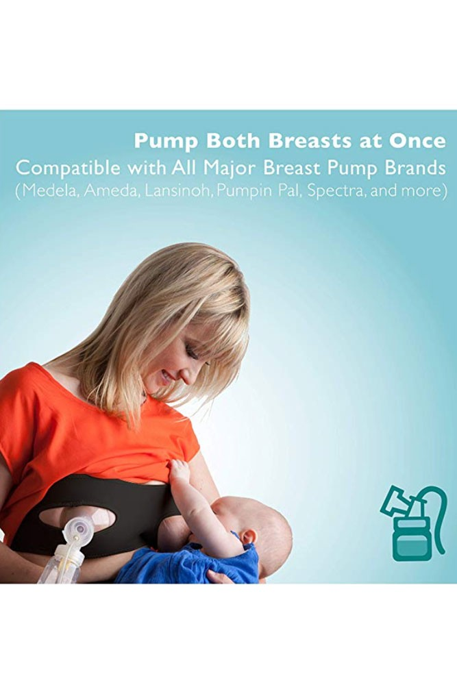 Breast Pump Strap Hands-Free Pumping & Nursing Bra (Turquoise)