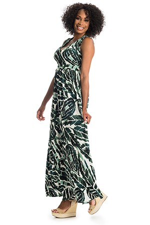 Valeria Maternity & Nursing Dress (Palm)