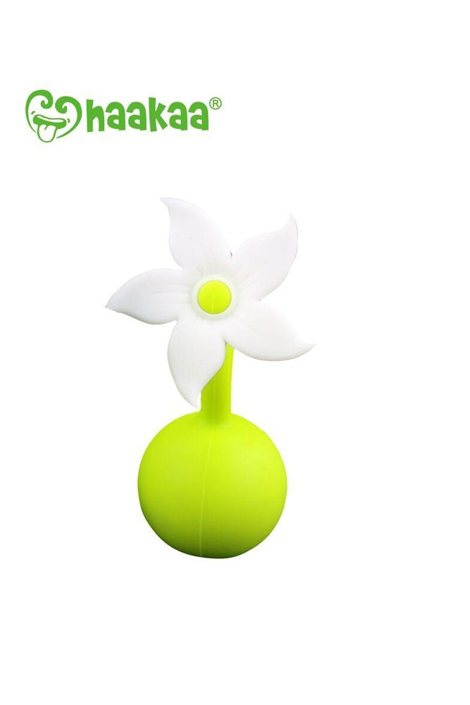 Haakaa Silicone Breast Pump Flower Stopper (White)
