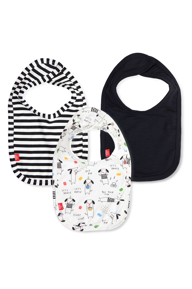 Magnetic Me™ Modal 3-Pack Magnetic Baby Bib (Raise the Woof)