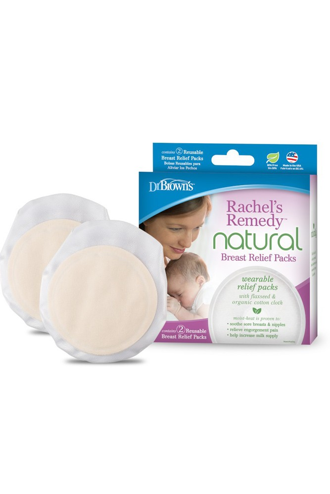 Dr. Brown's Rachel's Remedy Natural Warm Moisture Breast Relief Packs 2-Pack