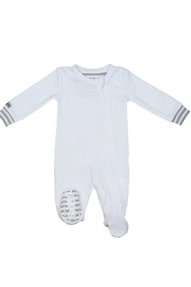 Juddlies Design - Organic Baby Sleeper (White/Grey)
