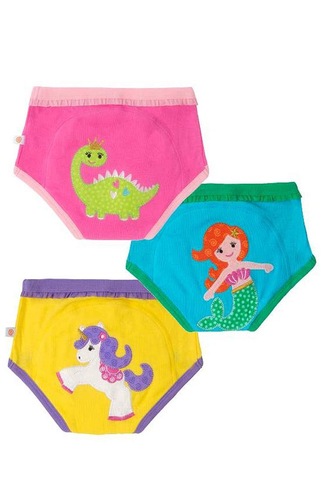 ZOOCCHINI 3-Piece Organic Cotton Potty Training Pants Set (Girls Fairy Tails)
