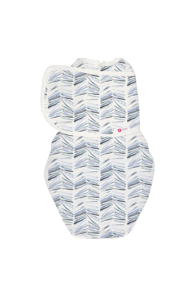 Embe 2-Way Starter Swaddle (0-4 Months) (Angle Stripe)
