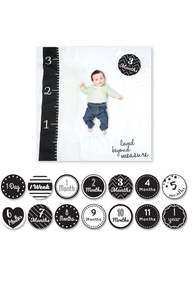 Lulujo Baby's First Year Photo Blanket (Loved Beyond Measure)