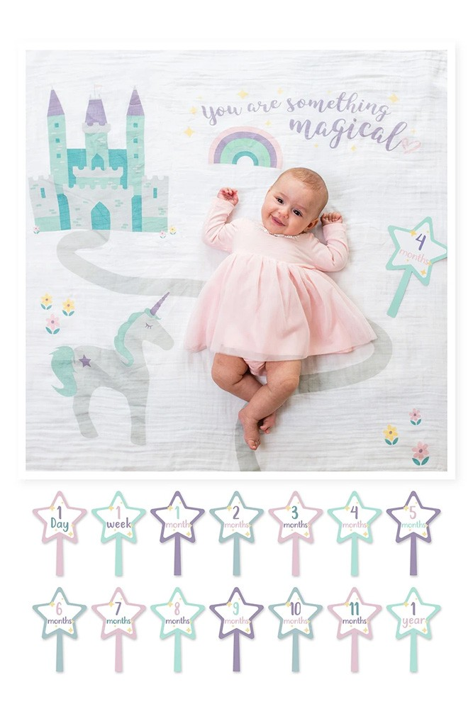 Lulujo Baby's First Year Photo Blanket (Something Magical)