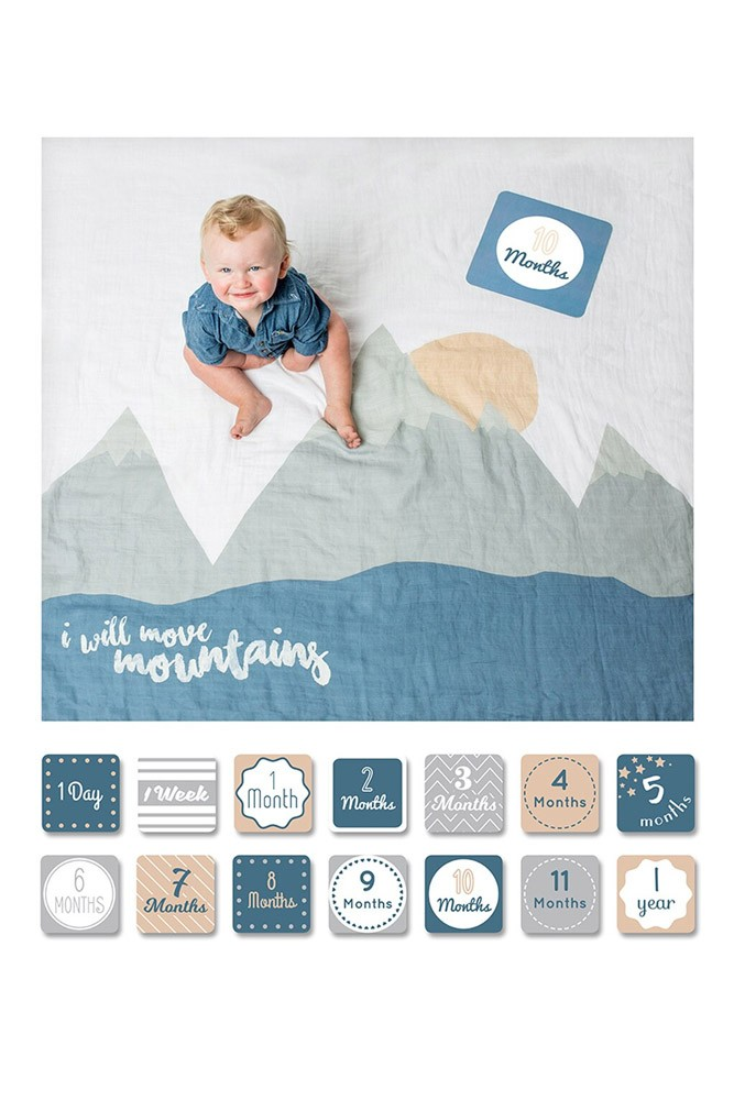 Lulujo Baby's First Year Photo Blanket (I Will Move Mountains)