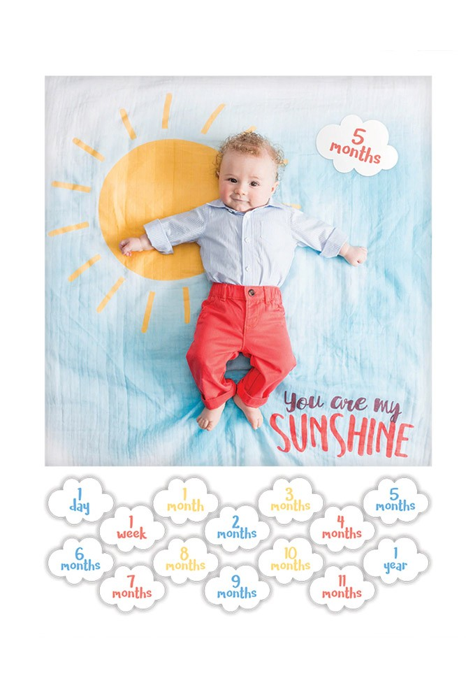 Lulujo Baby's First Year Photo Blanket (You are My Sunshine)
