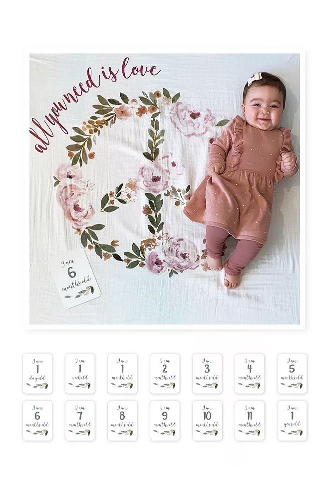 Lulujo Baby's First Year Photo Blanket (All You Need is Love)