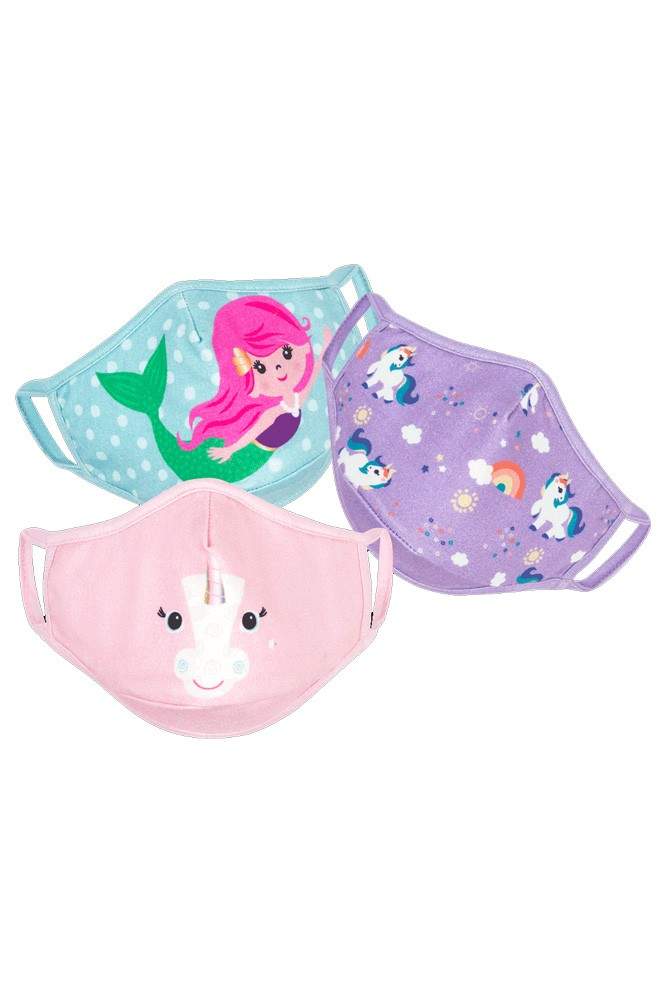 ZOOCCHINI- Organic Reusable Masks- 3 pk (Unicorn)