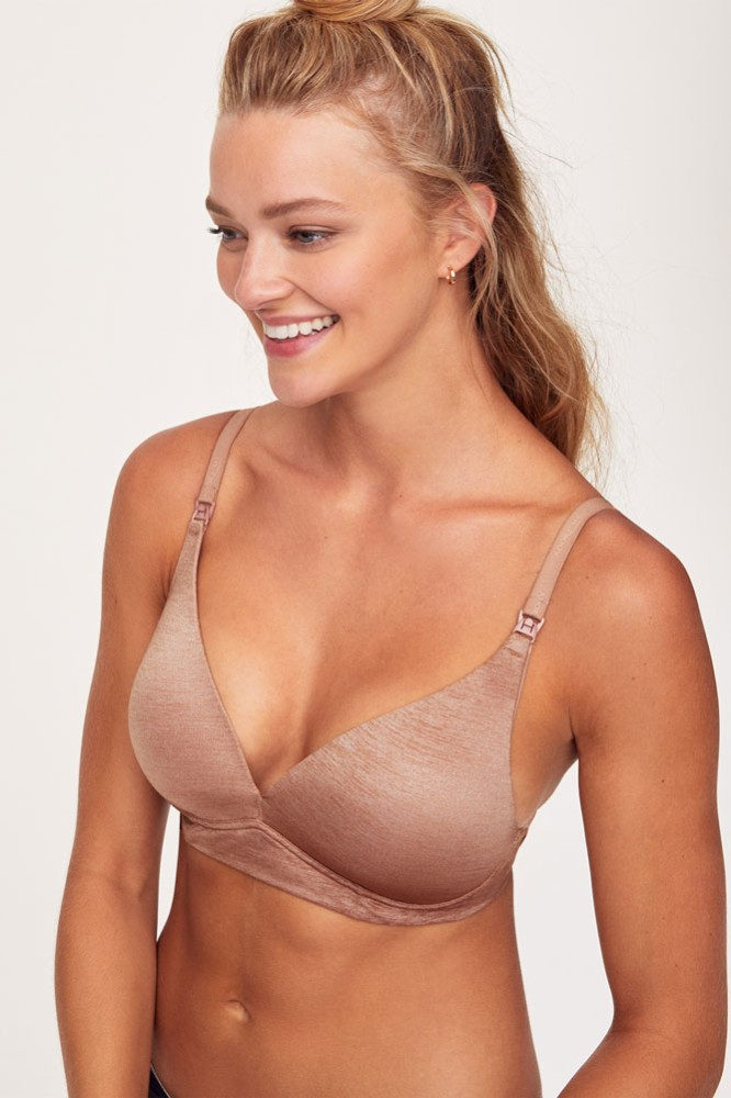 Belabumbum Haylie Wireless T-Shirt Nursing Bra (Tuscany)