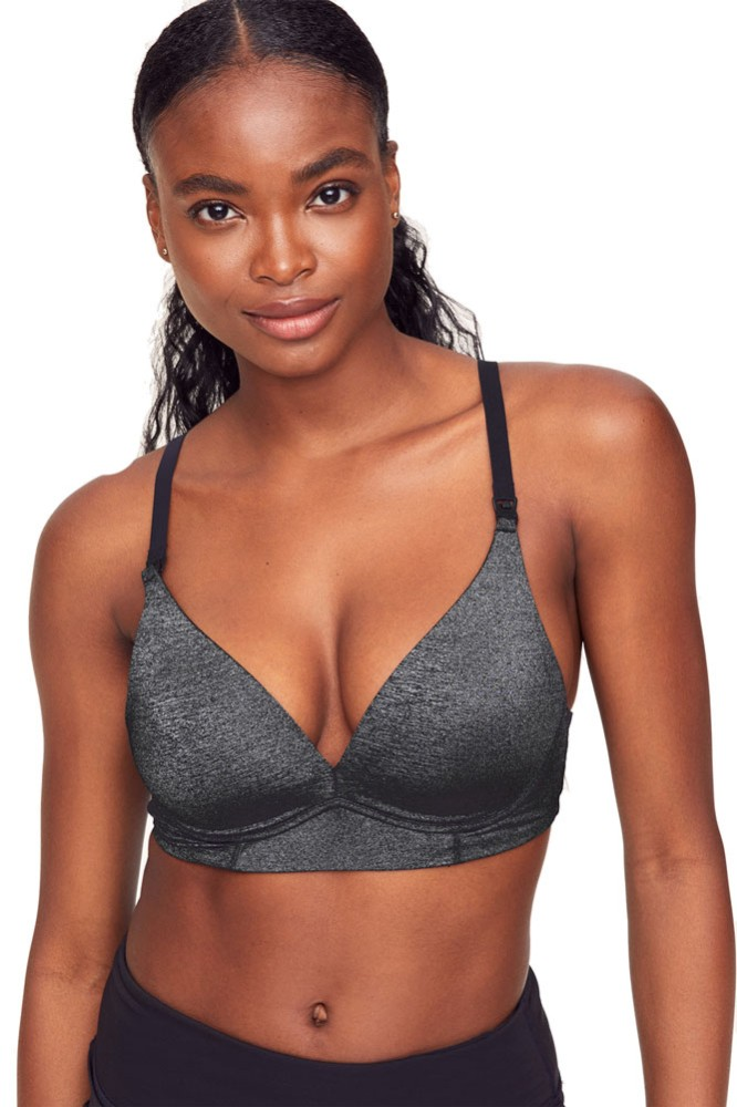 Belabumbum Haylie Wireless T-Shirt Nursing Bra (Black Marl)