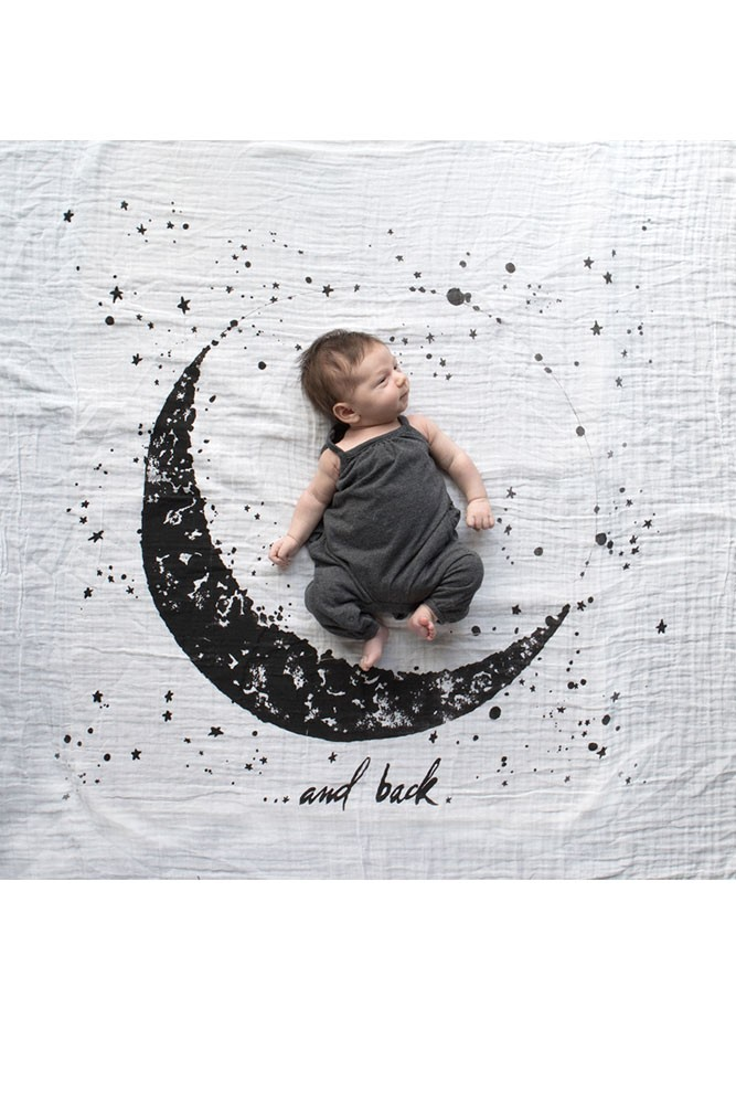 Baby Jives Co Organic Cotton Swaddle (Moon and Back)