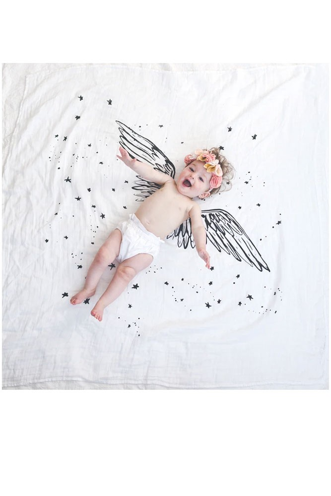 Baby Jives Co Organic Cotton Swaddle (Wings)