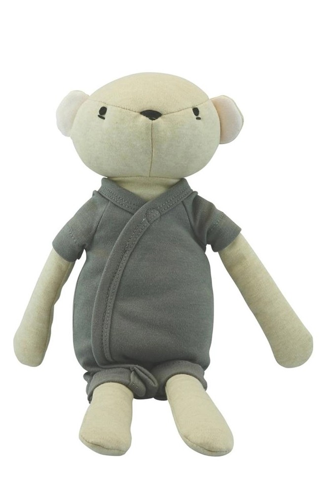 Babysoy Organic Cotton Plush Animal Pal - Bear (Bear/Thunder)
